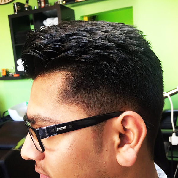 Hadi's Barber Shop Croydon - Side view of Stylish Hair Cut, Customer on 06/02/2015