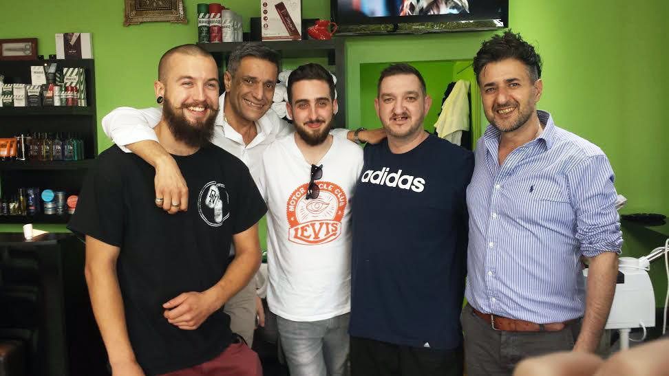 Happy customers at Hadis Barber Shop in Croydon